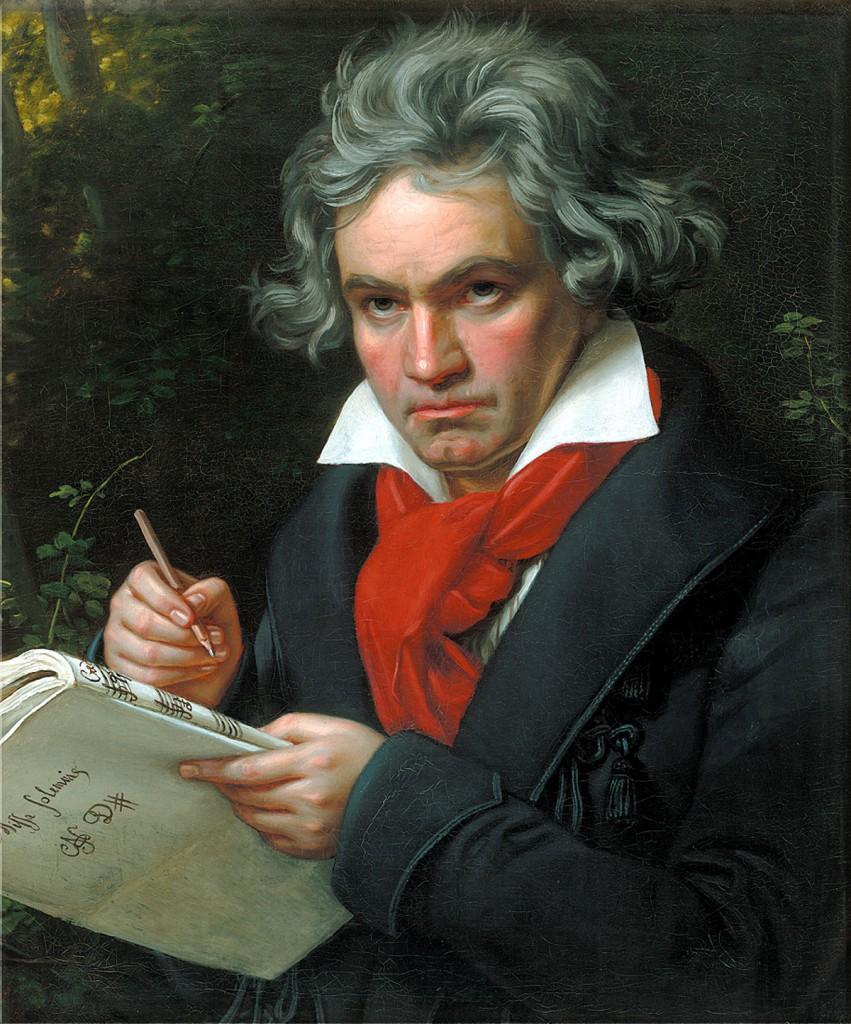 Il celebre ritratto di  Ludwig van Beethoven, eseguito da  Joseph Karl Stieler nel 1820.