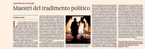 Recensione di Roberto Coaloa, sulla Domenica del Sole24Ore, 5 aprile 2015, al volume di Alessandra Necci Il diavolo zoppo e il suo compare. Talleyrand e Fouché o la politica del tradimento, edito da Marsilio.