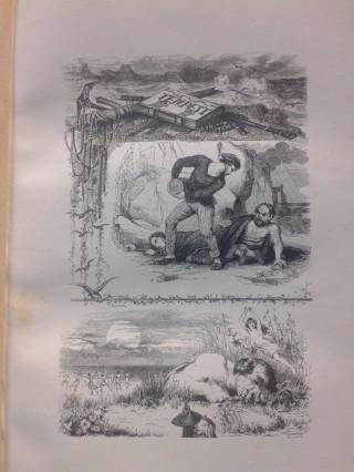 """Illustrazione francese su """"La Tempesta"""" di Shakespeare."""