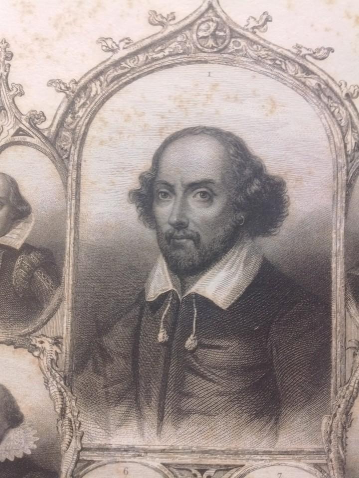 William Shakespeare (1564-1616), in un'edizione francese di metà Ottocento delle sue opere.