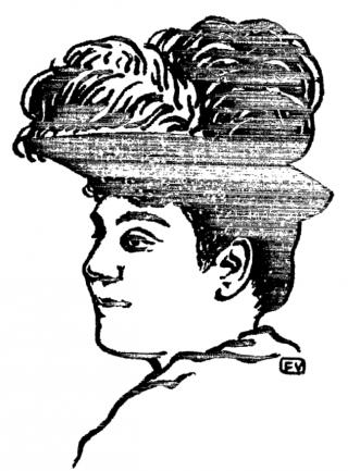 """Ritratto di Matilde Serao di Félix Vallotton per """"La Revue Blanche"""" (1891)."""
