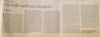 """Roberto Coaloa, """"Domenica"""", Il Sole – 24 Ore, sul volume dello storico Claudio Pavone, Aria di Russia (Laterza). Domenica 31 luglio 2016."""