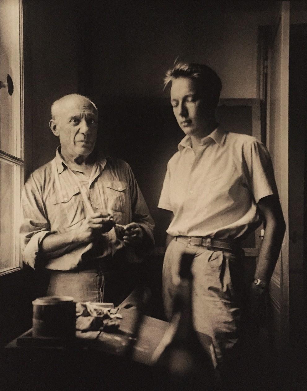 Pablo Picasso con Ezio Gribaudo, a Vallauris, 1951