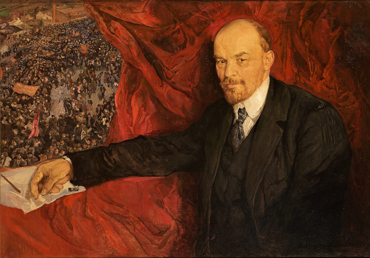 Lenin ritratto da Isaak Israilevič Brodskij (1919). Oil on canvas. 90 x 135 cm. The State Historical Museum Photo © Provided with assistance from the State Museum and Exhibition Center ROSIZO.