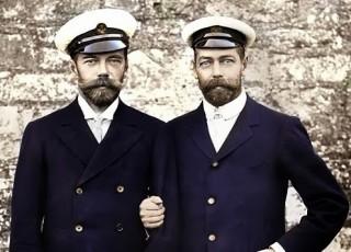Da sinistra: lo zar Nicola II e il re Giorgio V.