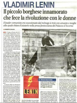 """""""Il piccolo borghese innamorato che fece la rivoluzione con le donne"""". Di Roberto Coaloa. Dal quotidiano """"Libero"""", venerdì 24 marzo 2017, p. 28."""