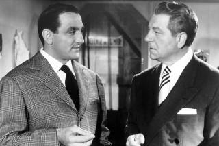 """Il trentacinquenne Lino Ventura con il leggendario Jean Gabin in """"Grisbì"""" (1954)."""