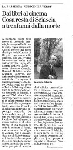 Articolo di Brunello Vescovi. La Stampa. Mercoledì 20 novembre 2019.