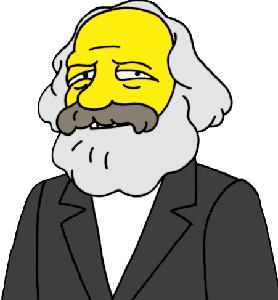 Marx nei cartoni animati.